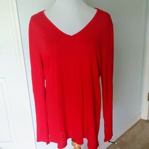Faded Glory Red Long Sleeve T Shirt Size XXL